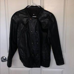 Fendi Leather Black Jacket Size L